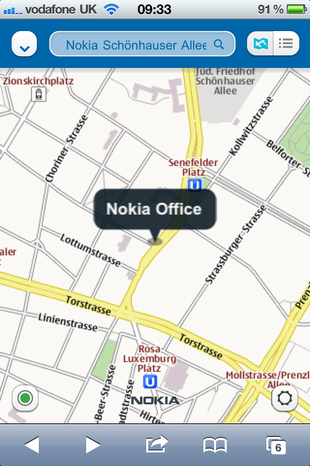 Nokia Maps on iOS