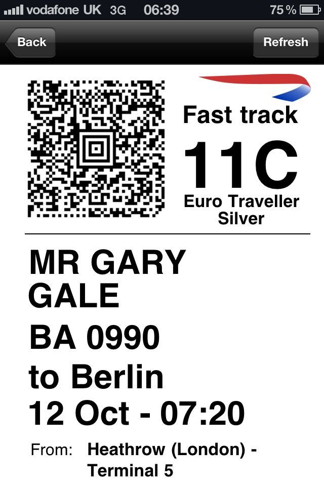 Berlin Boarding Pass - Original