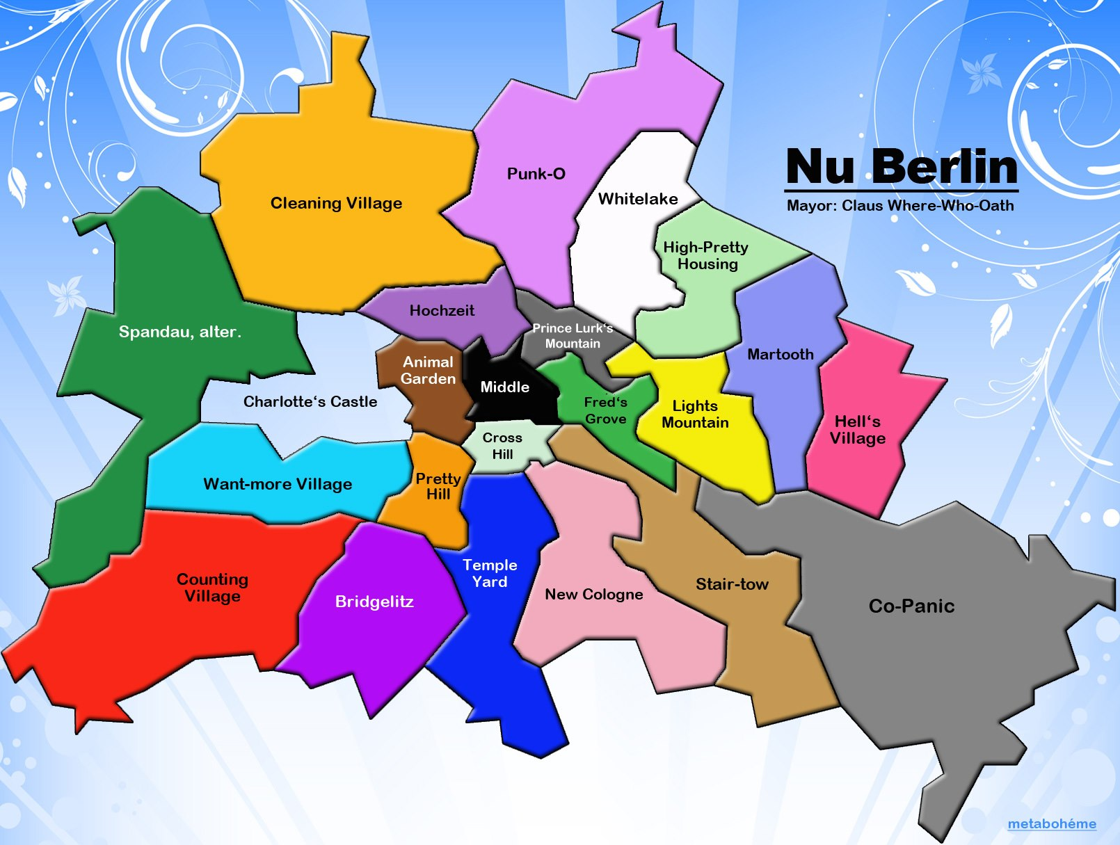 The English Map Of Berlin Mostly Maps