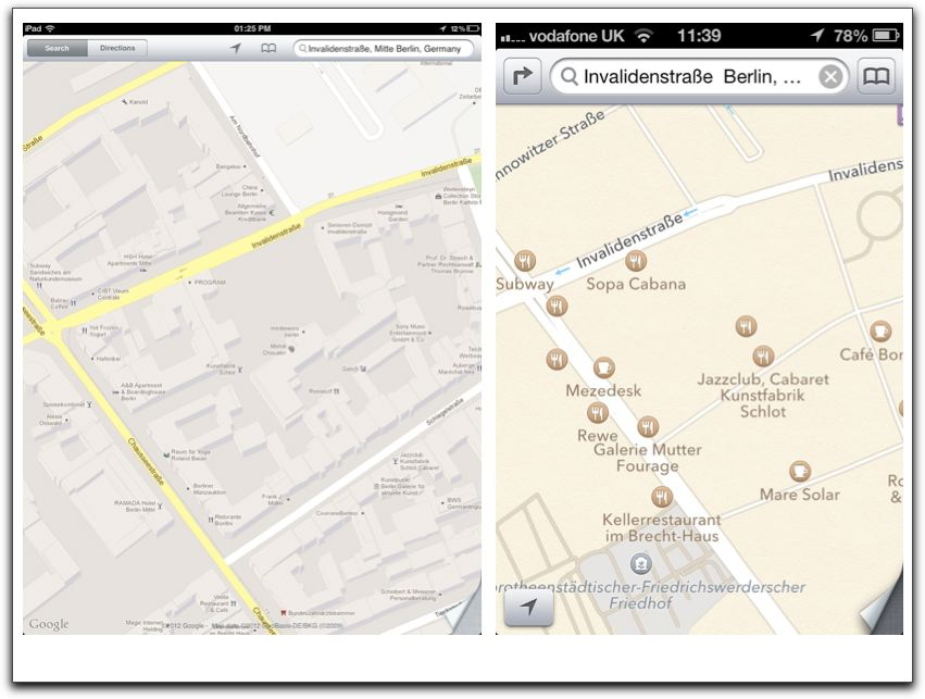 Central London Google Map.Map Wars Are Apple S Maps Really That Bad Mostly Maps