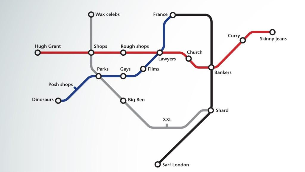 Basic Map Of London.The London Tube Map Made Too Simple Mostly Maps