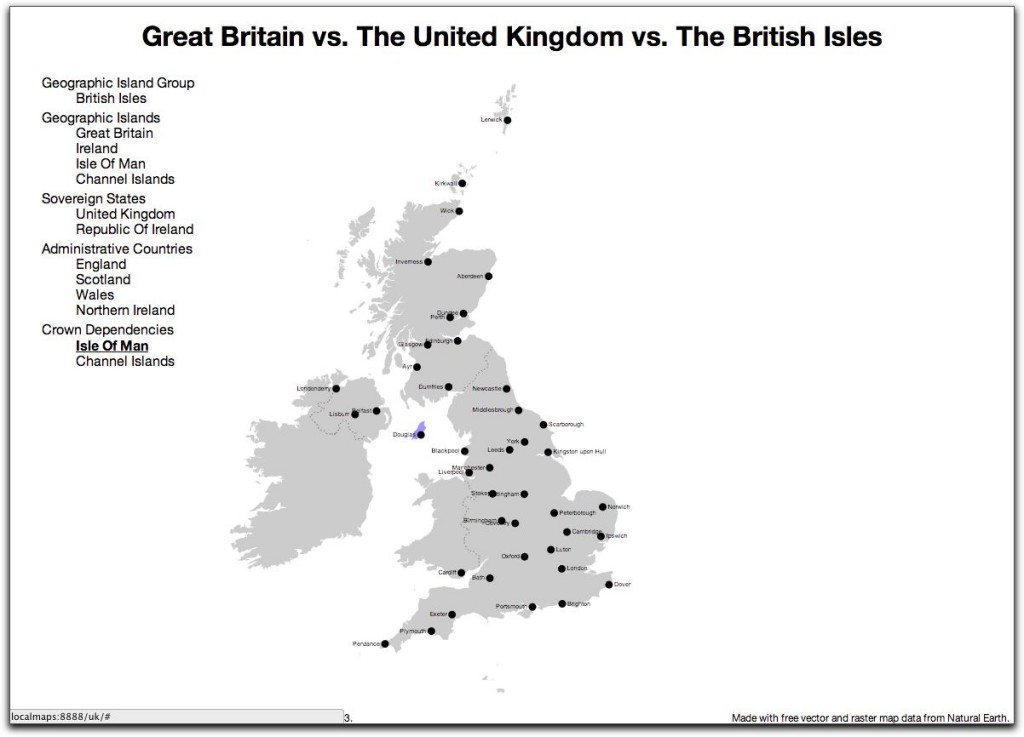 Great British Map - Crown Dependencies