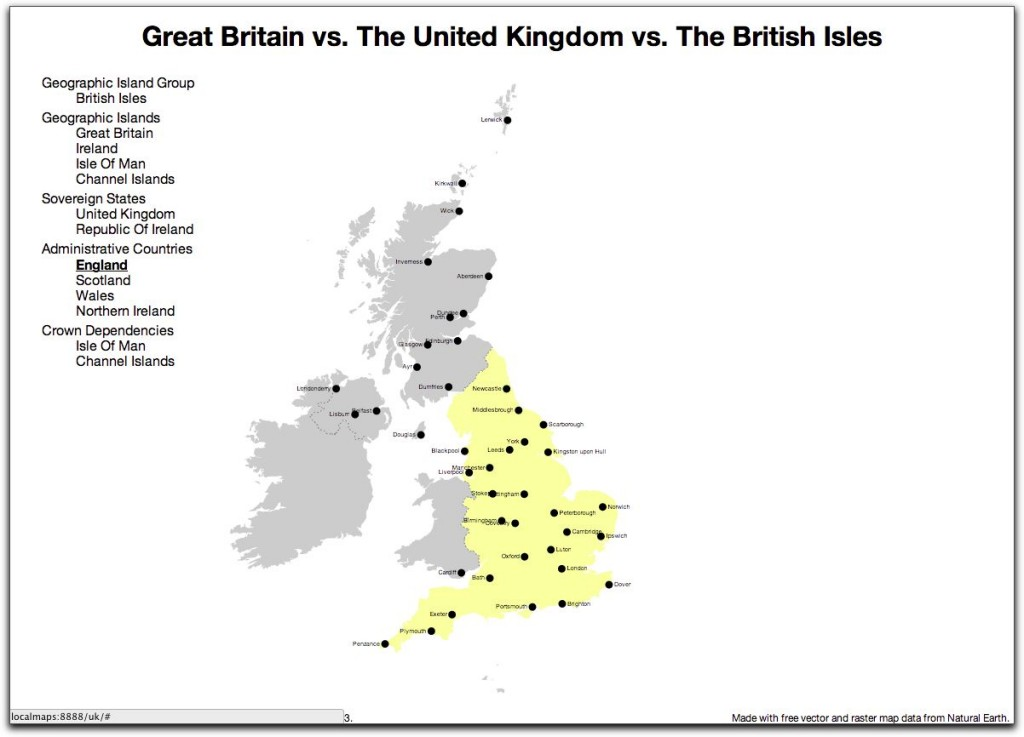 Great British Map - England