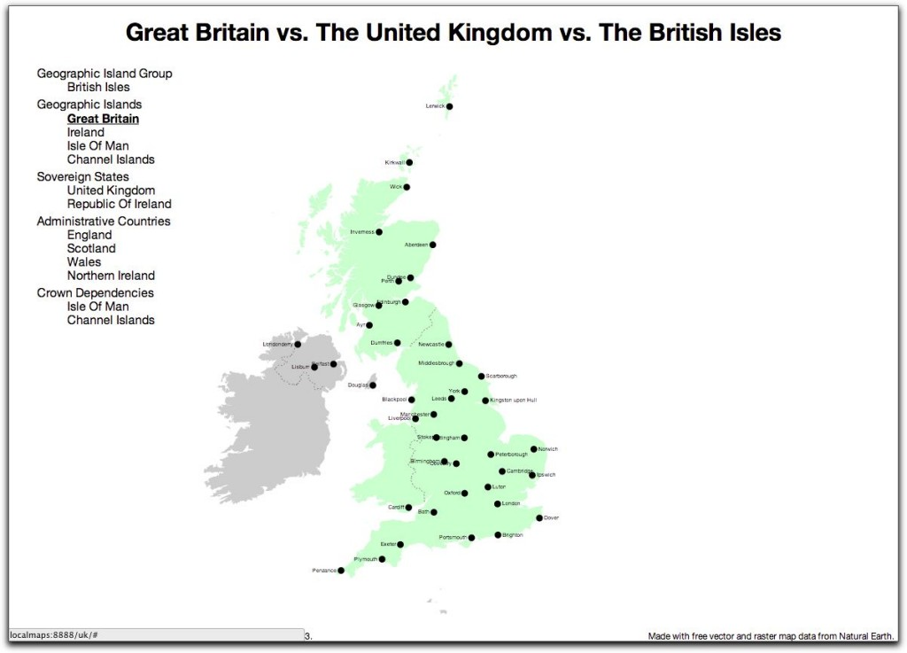 Great British Map - Great Britain
