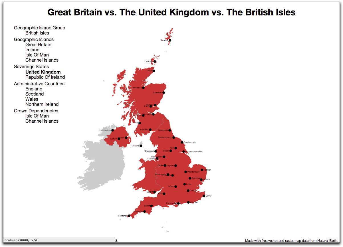 The Great British Map Or Great Britain vs The United Kingdom vs