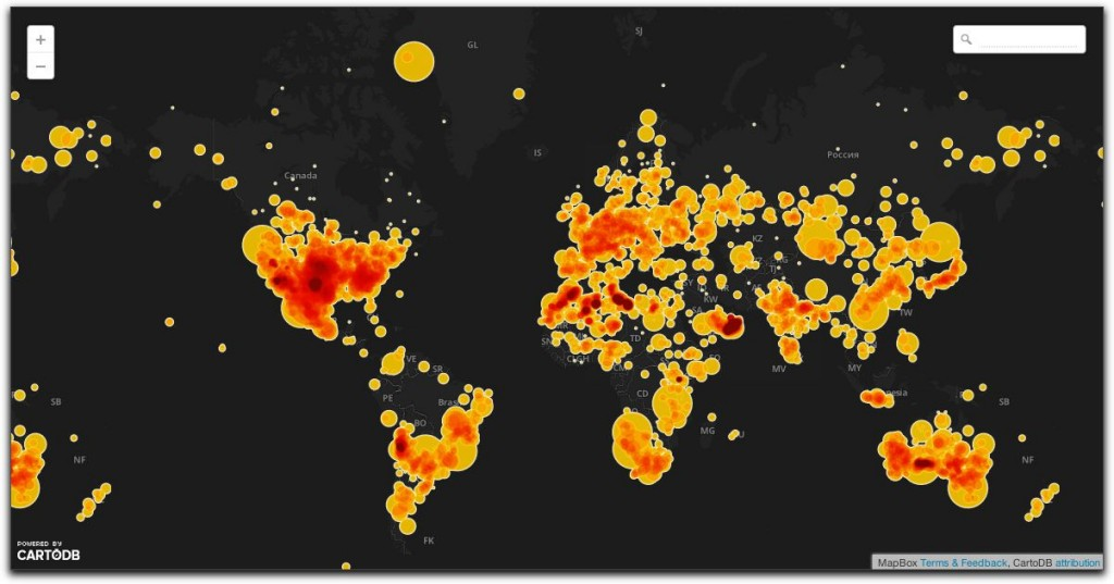 Meteor Map - Global