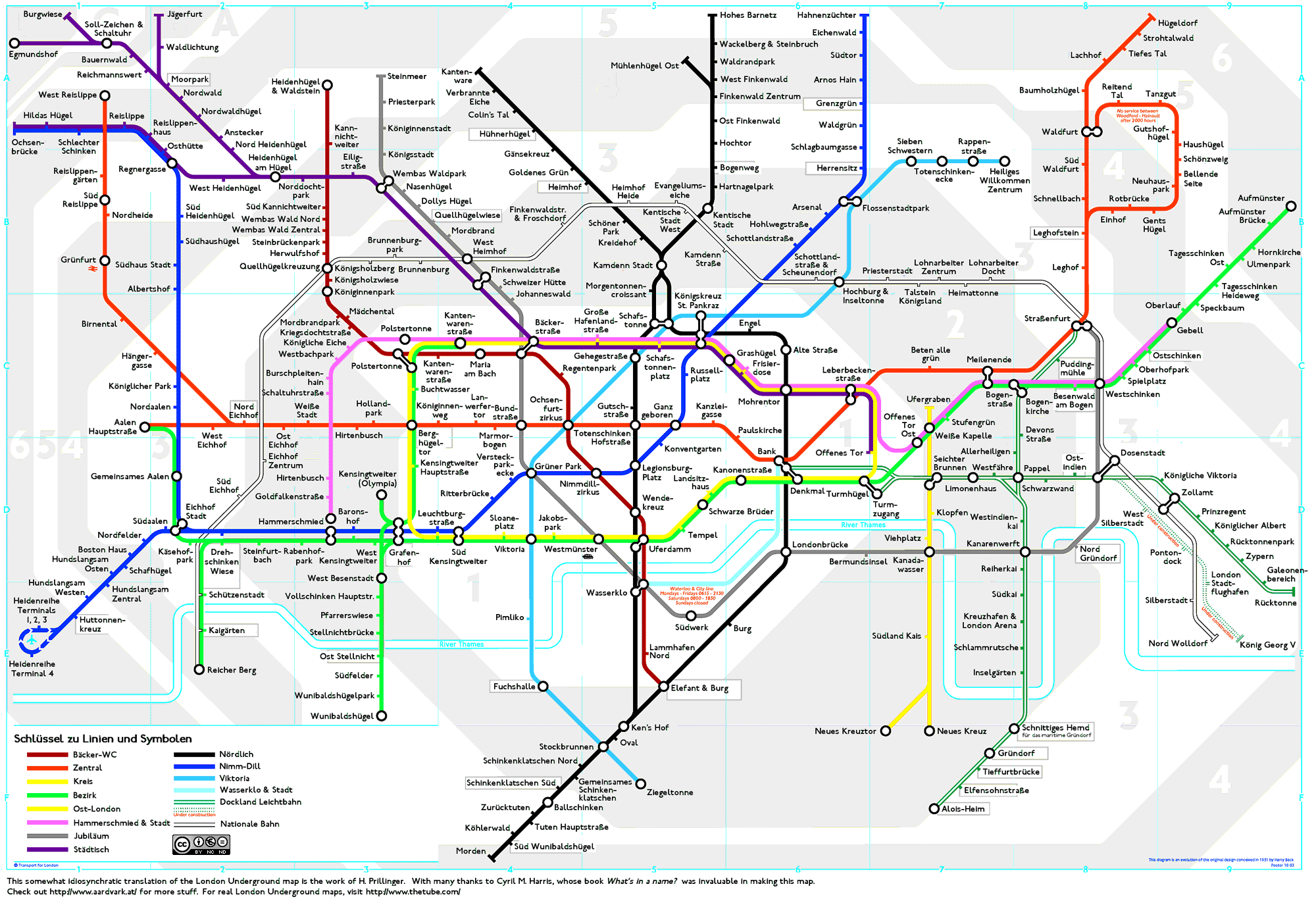 From Wasserklo To Grashügel By Way Of Königskreuz St Pankraz The - Northern line map london